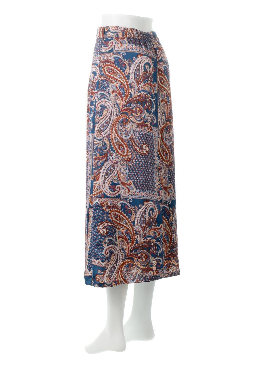 PaisleyPatternedPencilSkirtペイズリー柄・Iラインスカート大人カジュアルに最適な海外ファッションのothers(その他インポートアイテム)のボトムやスカート。ペイズリーの総柄プリントが可愛いIラインのペンシルスカート。テロテロ感が人気の差展示を使用し、カジュアルにも上品にもコーデできる便利スカートです。/main-3
