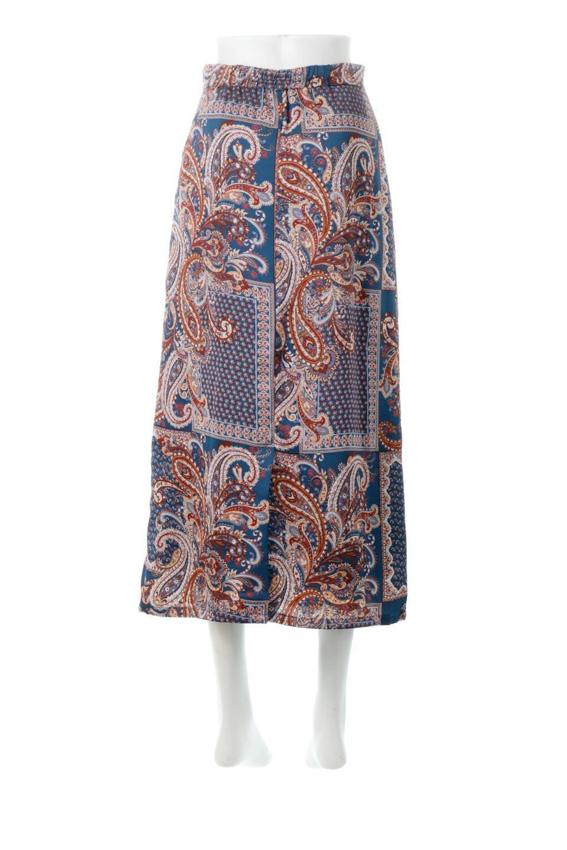 PaisleyPatternedPencilSkirtペイズリー柄・Iラインスカート大人カジュアルに最適な海外ファッションのothers(その他インポートアイテム)のボトムやスカート。ペイズリーの総柄プリントが可愛いIラインのペンシルスカート。テロテロ感が人気の差展示を使用し、カジュアルにも上品にもコーデできる便利スカートです。/main-4