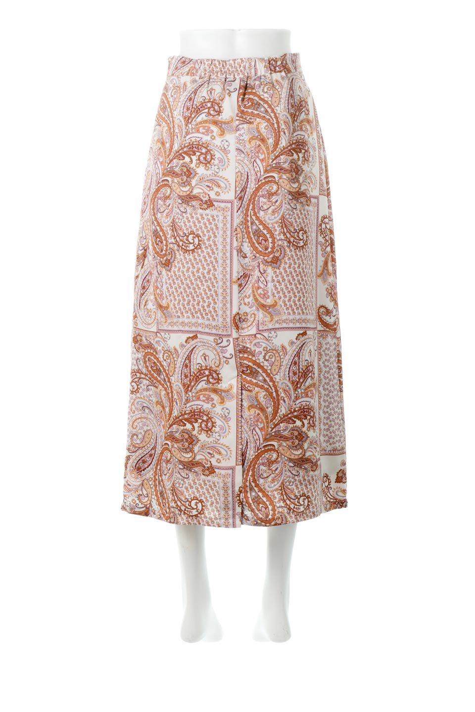 PaisleyPatternedPencilSkirtペイズリー柄・Iラインスカート大人カジュアルに最適な海外ファッションのothers(その他インポートアイテム)のボトムやスカート。ペイズリーの総柄プリントが可愛いIラインのペンシルスカート。テロテロ感が人気の差展示を使用し、カジュアルにも上品にもコーデできる便利スカートです。/main-9