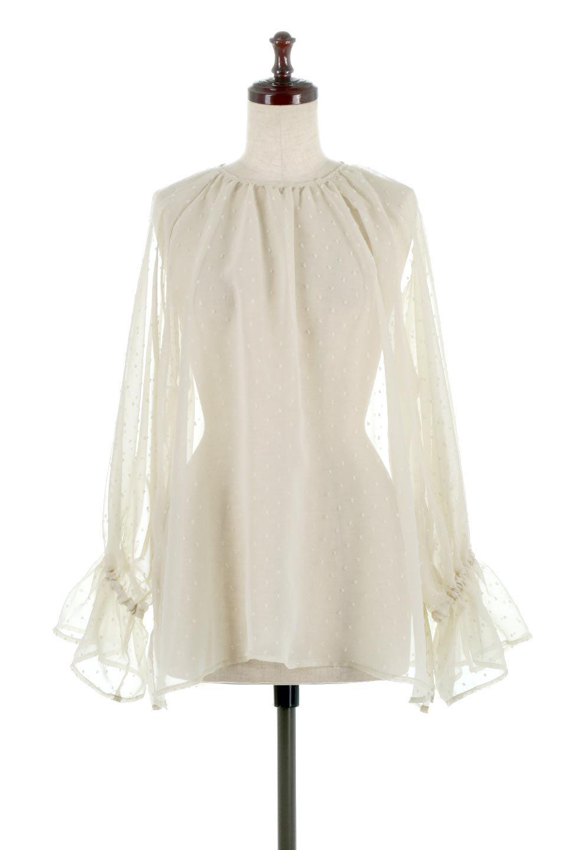 CandySleeveDottedSheerBlouseキャンディースリーブ・シアーブラウス大人カジュアルに最適な海外ファッションのothers(その他インポートアイテム)のトップスやカットソー。今季大人気のシアー素材を使用したギャザーブラウス。各所にギャザーを多用したデザインでふんわりとした女性らしさを醸し出してくれます。