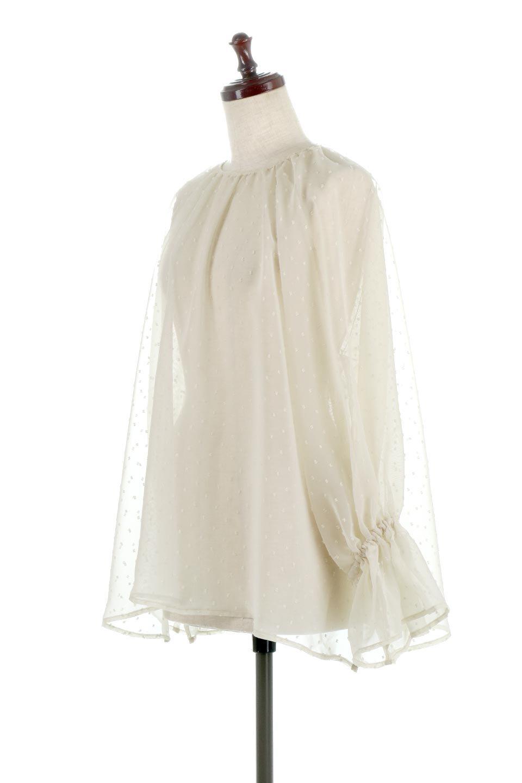 CandySleeveDottedSheerBlouseキャンディースリーブ・シアーブラウス大人カジュアルに最適な海外ファッションのothers(その他インポートアイテム)のトップスやカットソー。今季大人気のシアー素材を使用したギャザーブラウス。各所にギャザーを多用したデザインでふんわりとした女性らしさを醸し出してくれます。/main-1