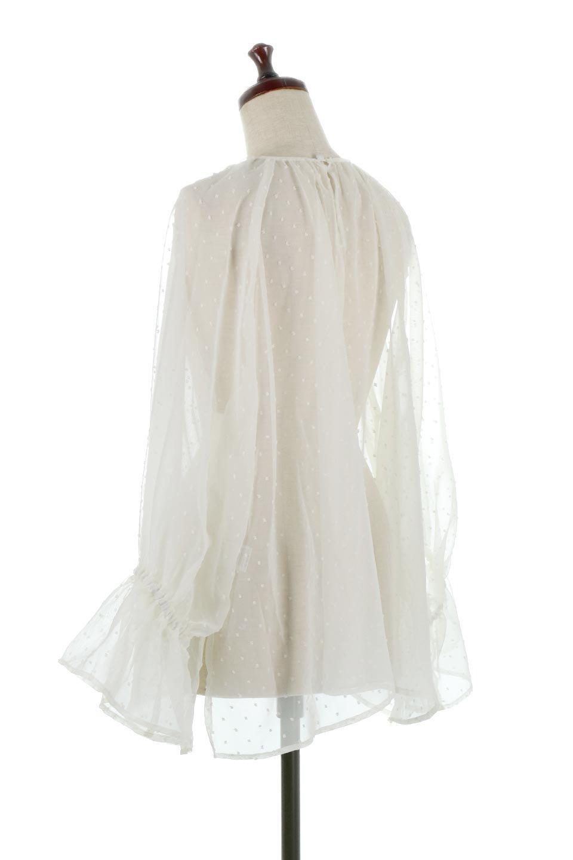 CandySleeveDottedSheerBlouseキャンディースリーブ・シアーブラウス大人カジュアルに最適な海外ファッションのothers(その他インポートアイテム)のトップスやカットソー。今季大人気のシアー素材を使用したギャザーブラウス。各所にギャザーを多用したデザインでふんわりとした女性らしさを醸し出してくれます。/main-13