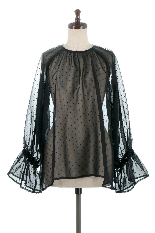 CandySleeveDottedSheerBlouseキャンディースリーブ・シアーブラウス大人カジュアルに最適な海外ファッションのothers(その他インポートアイテム)のトップスやカットソー。今季大人気のシアー素材を使用したギャザーブラウス。各所にギャザーを多用したデザインでふんわりとした女性らしさを醸し出してくれます。/main-15