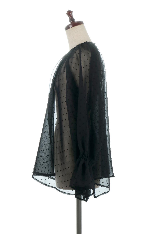 CandySleeveDottedSheerBlouseキャンディースリーブ・シアーブラウス大人カジュアルに最適な海外ファッションのothers(その他インポートアイテム)のトップスやカットソー。今季大人気のシアー素材を使用したギャザーブラウス。各所にギャザーを多用したデザインでふんわりとした女性らしさを醸し出してくれます。/main-17