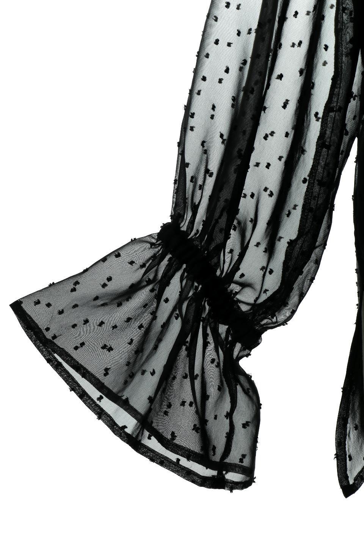 CandySleeveDottedSheerBlouseキャンディースリーブ・シアーブラウス大人カジュアルに最適な海外ファッションのothers(その他インポートアイテム)のトップスやカットソー。今季大人気のシアー素材を使用したギャザーブラウス。各所にギャザーを多用したデザインでふんわりとした女性らしさを醸し出してくれます。/main-24