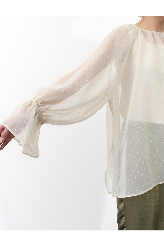 CandySleeveDottedSheerBlouseキャンディースリーブ・シアーブラウス大人カジュアルに最適な海外ファッションのothers(その他インポートアイテム)のトップスやカットソー。今季大人気のシアー素材を使用したギャザーブラウス。各所にギャザーを多用したデザインでふんわりとした女性らしさを醸し出してくれます。/main-29