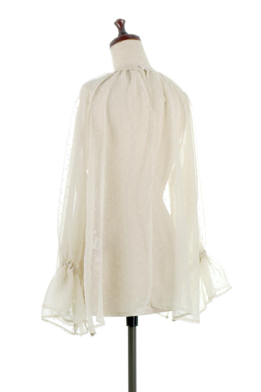 CandySleeveDottedSheerBlouseキャンディースリーブ・シアーブラウス大人カジュアルに最適な海外ファッションのothers(その他インポートアイテム)のトップスやカットソー。今季大人気のシアー素材を使用したギャザーブラウス。各所にギャザーを多用したデザインでふんわりとした女性らしさを醸し出してくれます。/main-3