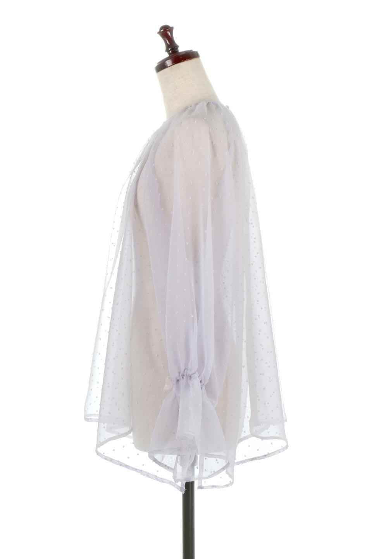 CandySleeveDottedSheerBlouseキャンディースリーブ・シアーブラウス大人カジュアルに最適な海外ファッションのothers(その他インポートアイテム)のトップスやカットソー。今季大人気のシアー素材を使用したギャザーブラウス。各所にギャザーを多用したデザインでふんわりとした女性らしさを醸し出してくれます。/main-7