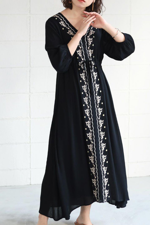 ExoticEmbroideredBohemianDressエスニック刺繍・ボヘミアンワンピース大人カジュアルに最適な海外ファッションのothers(その他インポートアイテム)のワンピースやマキシワンピース。ナチュラルなエスニックテイストが一目見ただけで可愛いボヘミアンなワンピース。刺繍が魅力的なワンピースです。/main-19