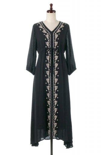 海外ファッションや大人カジュアルに最適なインポートセレクトアイテムのExotic Embroidered Bohemian Dress エスニック刺繍・ボヘミアンワンピース