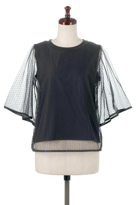 SheerDotSleeveLayeredBlouseドットチュールスリーブ・ドッキングブラウス大人カジュアルに最適な海外ファッションのothers(その他インポートアイテム)のトップスやシャツ・ブラウス。人気のシアー素材を使用した袖が可愛いフェイクレイヤードのブラウス。袖のドット柄が上品な雰囲気で女性らしいおーディネートが楽しめます。