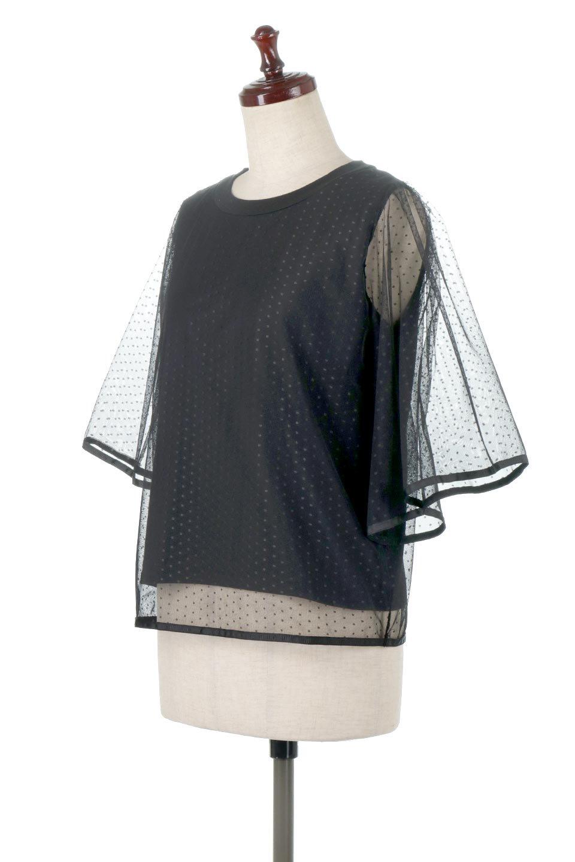 SheerDotSleeveLayeredBlouseドットチュールスリーブ・ドッキングブラウス大人カジュアルに最適な海外ファッションのothers(その他インポートアイテム)のトップスやシャツ・ブラウス。人気のシアー素材を使用した袖が可愛いフェイクレイヤードのブラウス。袖のドット柄が上品な雰囲気で女性らしいおーディネートが楽しめます。/main-1