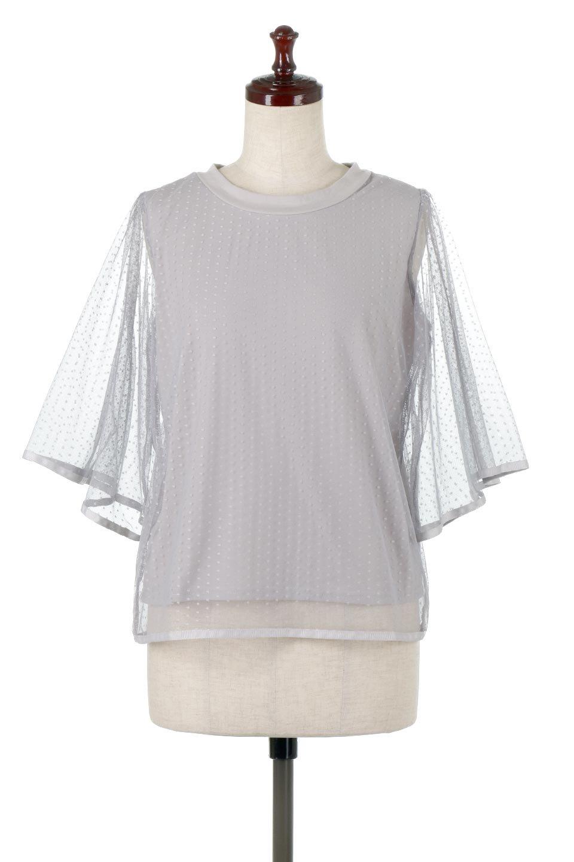 SheerDotSleeveLayeredBlouseドットチュールスリーブ・ドッキングブラウス大人カジュアルに最適な海外ファッションのothers(その他インポートアイテム)のトップスやシャツ・ブラウス。人気のシアー素材を使用した袖が可愛いフェイクレイヤードのブラウス。袖のドット柄が上品な雰囲気で女性らしいおーディネートが楽しめます。/main-10
