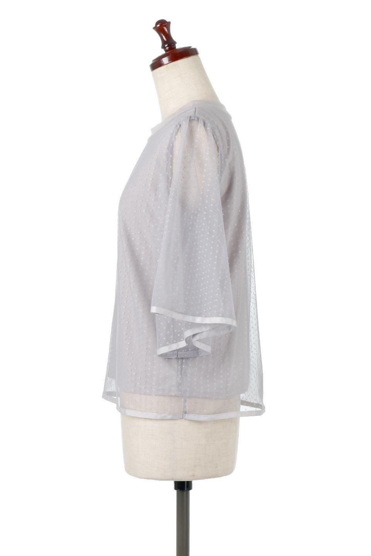 SheerDotSleeveLayeredBlouseドットチュールスリーブ・ドッキングブラウス大人カジュアルに最適な海外ファッションのothers(その他インポートアイテム)のトップスやシャツ・ブラウス。人気のシアー素材を使用した袖が可愛いフェイクレイヤードのブラウス。袖のドット柄が上品な雰囲気で女性らしいおーディネートが楽しめます。/main-12