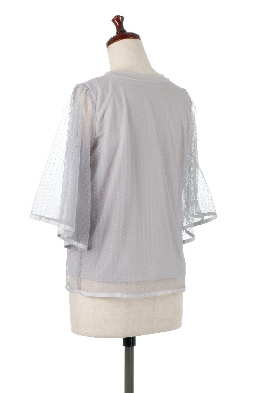 SheerDotSleeveLayeredBlouseドットチュールスリーブ・ドッキングブラウス大人カジュアルに最適な海外ファッションのothers(その他インポートアイテム)のトップスやシャツ・ブラウス。人気のシアー素材を使用した袖が可愛いフェイクレイヤードのブラウス。袖のドット柄が上品な雰囲気で女性らしいおーディネートが楽しめます。/main-13