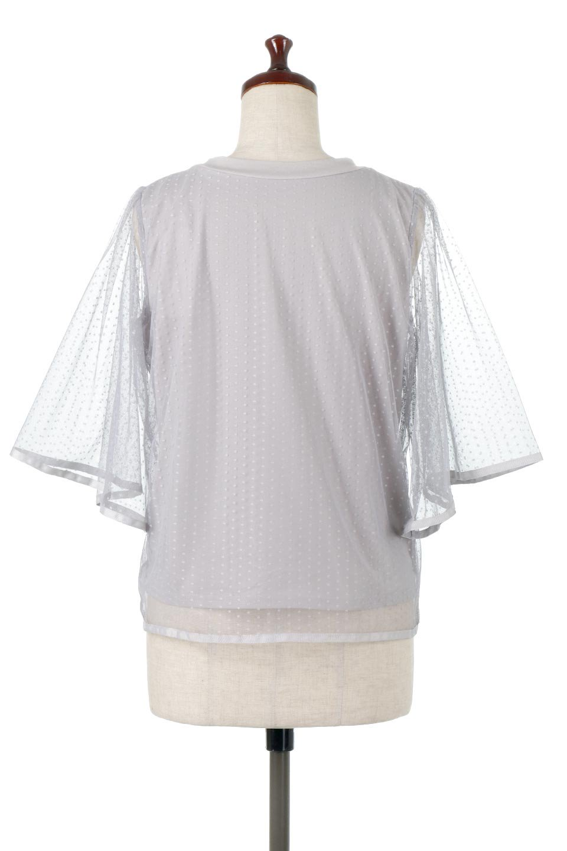 SheerDotSleeveLayeredBlouseドットチュールスリーブ・ドッキングブラウス大人カジュアルに最適な海外ファッションのothers(その他インポートアイテム)のトップスやシャツ・ブラウス。人気のシアー素材を使用した袖が可愛いフェイクレイヤードのブラウス。袖のドット柄が上品な雰囲気で女性らしいおーディネートが楽しめます。/main-14