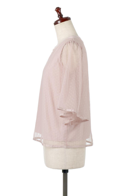 SheerDotSleeveLayeredBlouseドットチュールスリーブ・ドッキングブラウス大人カジュアルに最適な海外ファッションのothers(その他インポートアイテム)のトップスやシャツ・ブラウス。人気のシアー素材を使用した袖が可愛いフェイクレイヤードのブラウス。袖のドット柄が上品な雰囲気で女性らしいおーディネートが楽しめます。/main-17