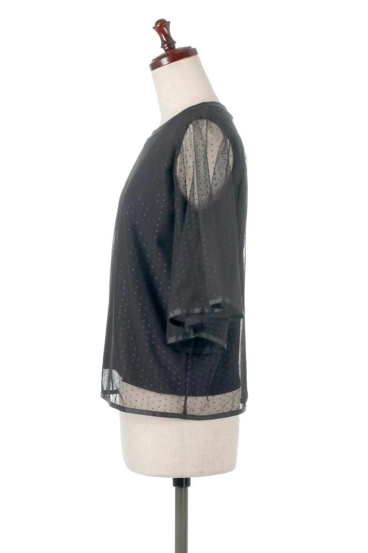 SheerDotSleeveLayeredBlouseドットチュールスリーブ・ドッキングブラウス大人カジュアルに最適な海外ファッションのothers(その他インポートアイテム)のトップスやシャツ・ブラウス。人気のシアー素材を使用した袖が可愛いフェイクレイヤードのブラウス。袖のドット柄が上品な雰囲気で女性らしいおーディネートが楽しめます。/main-2