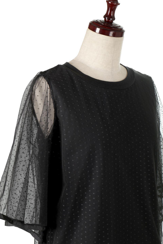 SheerDotSleeveLayeredBlouseドットチュールスリーブ・ドッキングブラウス大人カジュアルに最適な海外ファッションのothers(その他インポートアイテム)のトップスやシャツ・ブラウス。人気のシアー素材を使用した袖が可愛いフェイクレイヤードのブラウス。袖のドット柄が上品な雰囲気で女性らしいおーディネートが楽しめます。/main-20