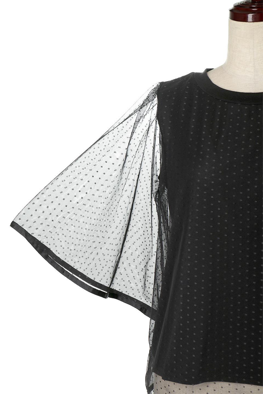 SheerDotSleeveLayeredBlouseドットチュールスリーブ・ドッキングブラウス大人カジュアルに最適な海外ファッションのothers(その他インポートアイテム)のトップスやシャツ・ブラウス。人気のシアー素材を使用した袖が可愛いフェイクレイヤードのブラウス。袖のドット柄が上品な雰囲気で女性らしいおーディネートが楽しめます。/main-24