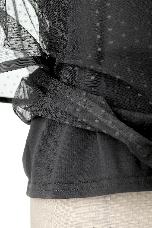 SheerDotSleeveLayeredBlouseドットチュールスリーブ・ドッキングブラウス大人カジュアルに最適な海外ファッションのothers(その他インポートアイテム)のトップスやシャツ・ブラウス。人気のシアー素材を使用した袖が可愛いフェイクレイヤードのブラウス。袖のドット柄が上品な雰囲気で女性らしいおーディネートが楽しめます。/main-27