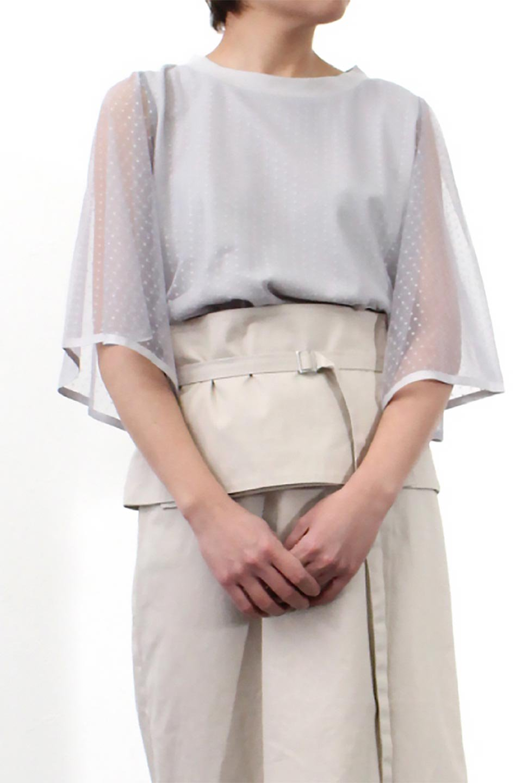 SheerDotSleeveLayeredBlouseドットチュールスリーブ・ドッキングブラウス大人カジュアルに最適な海外ファッションのothers(その他インポートアイテム)のトップスやシャツ・ブラウス。人気のシアー素材を使用した袖が可愛いフェイクレイヤードのブラウス。袖のドット柄が上品な雰囲気で女性らしいおーディネートが楽しめます。/main-28