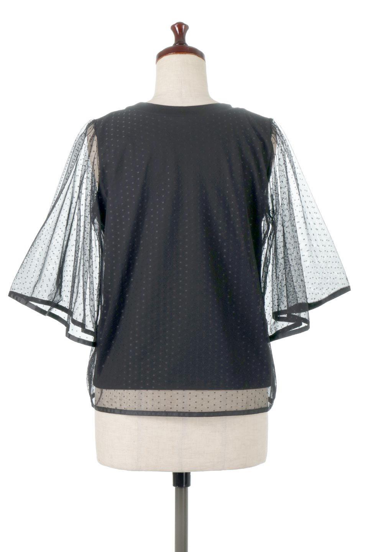 SheerDotSleeveLayeredBlouseドットチュールスリーブ・ドッキングブラウス大人カジュアルに最適な海外ファッションのothers(その他インポートアイテム)のトップスやシャツ・ブラウス。人気のシアー素材を使用した袖が可愛いフェイクレイヤードのブラウス。袖のドット柄が上品な雰囲気で女性らしいおーディネートが楽しめます。/main-4