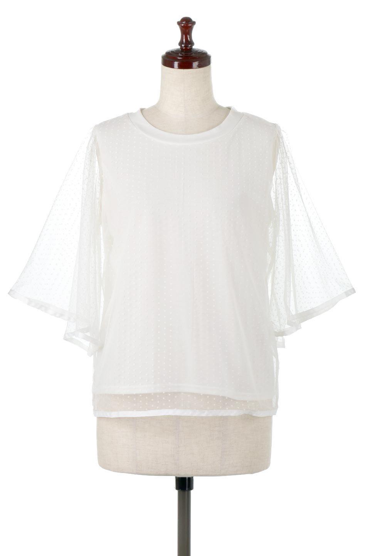SheerDotSleeveLayeredBlouseドットチュールスリーブ・ドッキングブラウス大人カジュアルに最適な海外ファッションのothers(その他インポートアイテム)のトップスやシャツ・ブラウス。人気のシアー素材を使用した袖が可愛いフェイクレイヤードのブラウス。袖のドット柄が上品な雰囲気で女性らしいおーディネートが楽しめます。/main-5