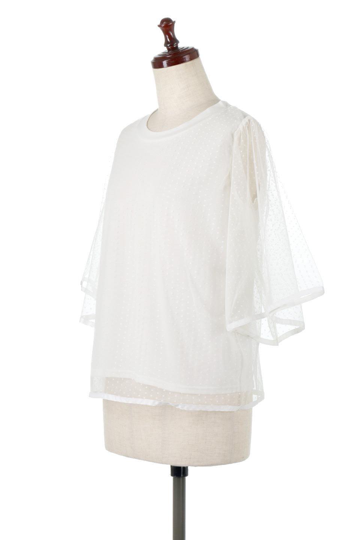 SheerDotSleeveLayeredBlouseドットチュールスリーブ・ドッキングブラウス大人カジュアルに最適な海外ファッションのothers(その他インポートアイテム)のトップスやシャツ・ブラウス。人気のシアー素材を使用した袖が可愛いフェイクレイヤードのブラウス。袖のドット柄が上品な雰囲気で女性らしいおーディネートが楽しめます。/main-6