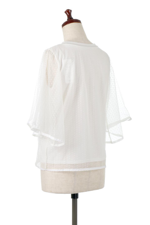 SheerDotSleeveLayeredBlouseドットチュールスリーブ・ドッキングブラウス大人カジュアルに最適な海外ファッションのothers(その他インポートアイテム)のトップスやシャツ・ブラウス。人気のシアー素材を使用した袖が可愛いフェイクレイヤードのブラウス。袖のドット柄が上品な雰囲気で女性らしいおーディネートが楽しめます。/main-8