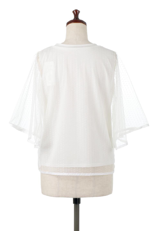 SheerDotSleeveLayeredBlouseドットチュールスリーブ・ドッキングブラウス大人カジュアルに最適な海外ファッションのothers(その他インポートアイテム)のトップスやシャツ・ブラウス。人気のシアー素材を使用した袖が可愛いフェイクレイヤードのブラウス。袖のドット柄が上品な雰囲気で女性らしいおーディネートが楽しめます。/main-9