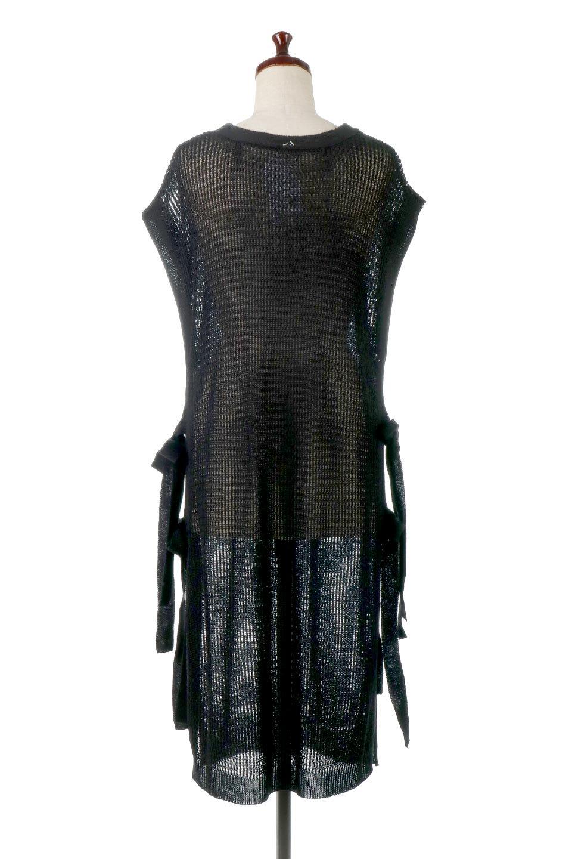 SummerKnitLongVest麻タッチニット・ロングベスト大人カジュアルに最適な海外ファッションのothers(その他インポートアイテム)のトップスやニット・セーター。麻タッチのニット素材が涼し気なロングベスト。ドロップショルダーとサイドのスリットやリボン、可愛いデザインで重ね着も楽しくなります。/main-15