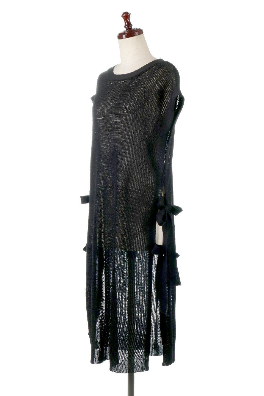 SummerKnitLongVest麻タッチニット・ロングベスト大人カジュアルに最適な海外ファッションのothers(その他インポートアイテム)のトップスやニット・セーター。麻タッチのニット素材が涼し気なロングベスト。ドロップショルダーとサイドのスリットやリボン、可愛いデザインで重ね着も楽しくなります。/main-17