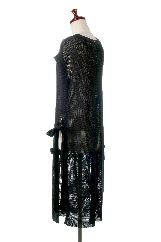 SummerKnitLongVest麻タッチニット・ロングベスト大人カジュアルに最適な海外ファッションのothers(その他インポートアイテム)のトップスやニット・セーター。麻タッチのニット素材が涼し気なロングベスト。ドロップショルダーとサイドのスリットやリボン、可愛いデザインで重ね着も楽しくなります。/main-19