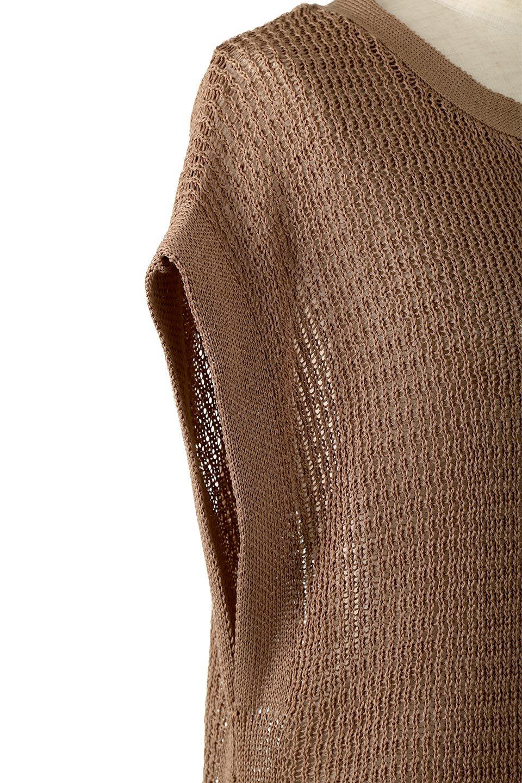 SummerKnitLongVest麻タッチニット・ロングベスト大人カジュアルに最適な海外ファッションのothers(その他インポートアイテム)のトップスやニット・セーター。麻タッチのニット素材が涼し気なロングベスト。ドロップショルダーとサイドのスリットやリボン、可愛いデザインで重ね着も楽しくなります。/main-23