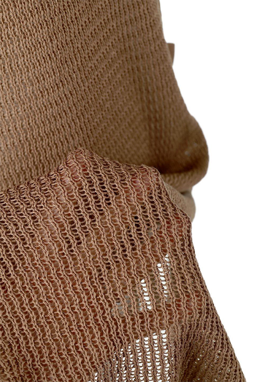 SummerKnitLongVest麻タッチニット・ロングベスト大人カジュアルに最適な海外ファッションのothers(その他インポートアイテム)のトップスやニット・セーター。麻タッチのニット素材が涼し気なロングベスト。ドロップショルダーとサイドのスリットやリボン、可愛いデザインで重ね着も楽しくなります。/main-26