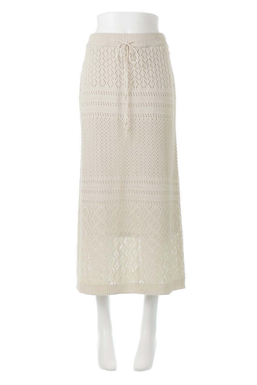 LacyKnitLongSkirt模様編み・ニットスカート大人カジュアルに最適な海外ファッションのothers(その他インポートアイテム)のボトムやスカート。春夏にぴったりな模様編みのロングスカート。着る人を選ばない長さで、シックでもカジュアルでも楽しめます。