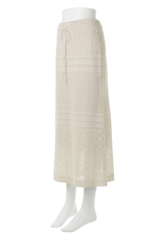 LacyKnitLongSkirt模様編み・ニットスカート大人カジュアルに最適な海外ファッションのothers(その他インポートアイテム)のボトムやスカート。春夏にぴったりな模様編みのロングスカート。着る人を選ばない長さで、シックでもカジュアルでも楽しめます。/main-1