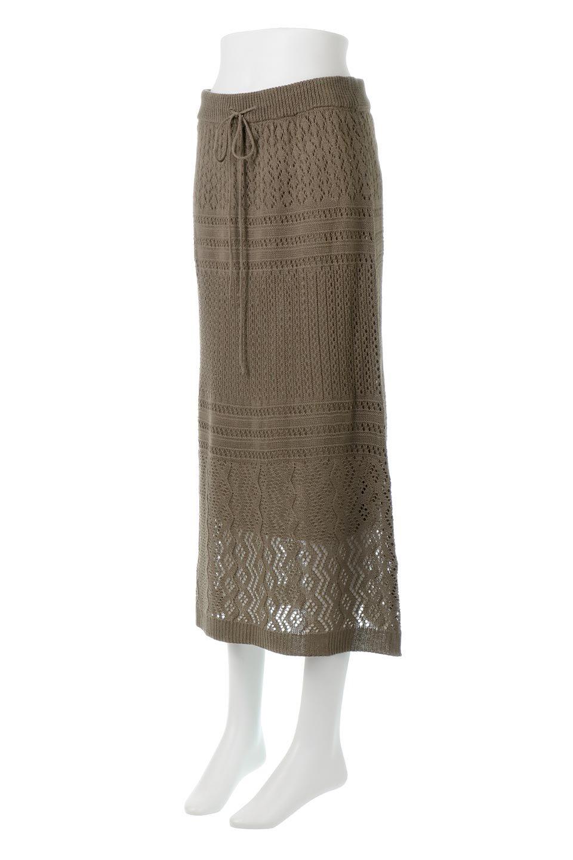 LacyKnitLongSkirt模様編み・ニットスカート大人カジュアルに最適な海外ファッションのothers(その他インポートアイテム)のボトムやスカート。春夏にぴったりな模様編みのロングスカート。着る人を選ばない長さで、シックでもカジュアルでも楽しめます。/main-11