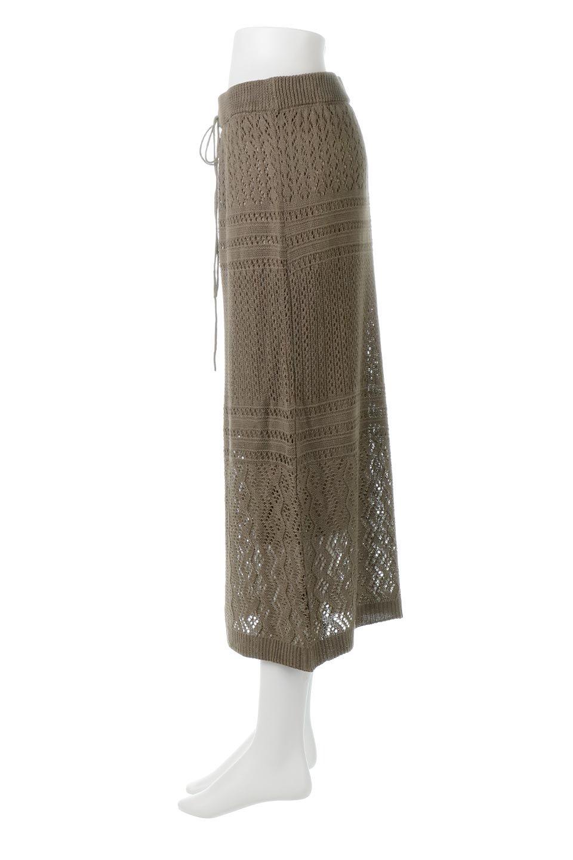 LacyKnitLongSkirt模様編み・ニットスカート大人カジュアルに最適な海外ファッションのothers(その他インポートアイテム)のボトムやスカート。春夏にぴったりな模様編みのロングスカート。着る人を選ばない長さで、シックでもカジュアルでも楽しめます。/main-12