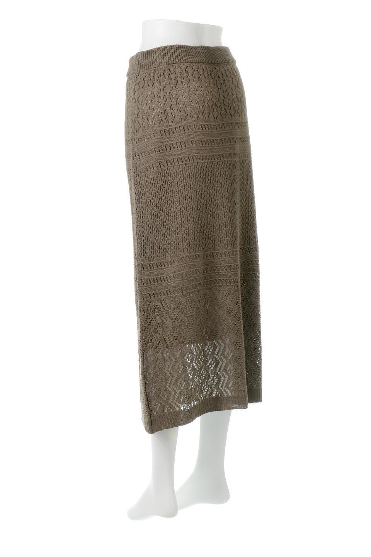 LacyKnitLongSkirt模様編み・ニットスカート大人カジュアルに最適な海外ファッションのothers(その他インポートアイテム)のボトムやスカート。春夏にぴったりな模様編みのロングスカート。着る人を選ばない長さで、シックでもカジュアルでも楽しめます。/main-13