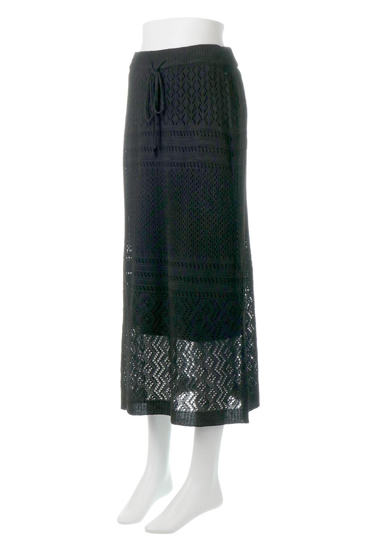 LacyKnitLongSkirt模様編み・ニットスカート大人カジュアルに最適な海外ファッションのothers(その他インポートアイテム)のボトムやスカート。春夏にぴったりな模様編みのロングスカート。着る人を選ばない長さで、シックでもカジュアルでも楽しめます。/main-16