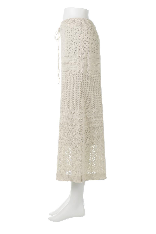 LacyKnitLongSkirt模様編み・ニットスカート大人カジュアルに最適な海外ファッションのothers(その他インポートアイテム)のボトムやスカート。春夏にぴったりな模様編みのロングスカート。着る人を選ばない長さで、シックでもカジュアルでも楽しめます。/main-2