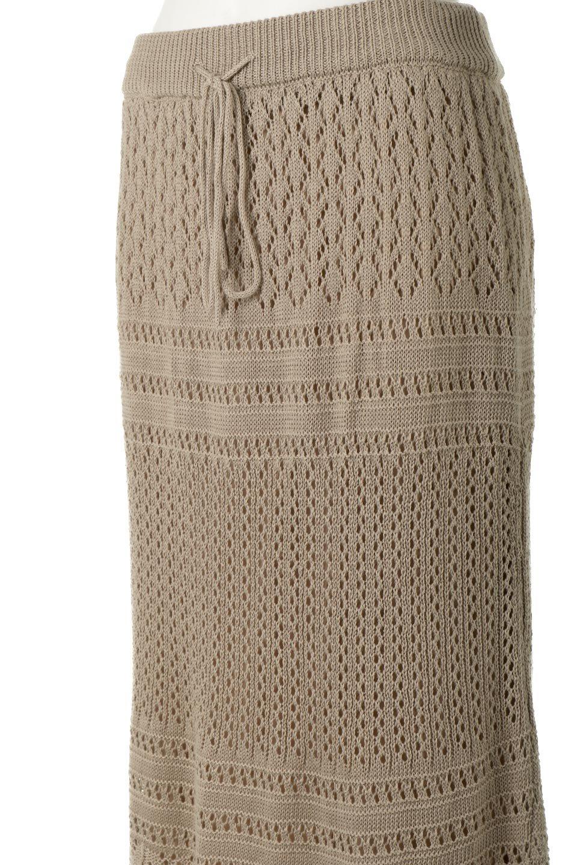 LacyKnitLongSkirt模様編み・ニットスカート大人カジュアルに最適な海外ファッションのothers(その他インポートアイテム)のボトムやスカート。春夏にぴったりな模様編みのロングスカート。着る人を選ばない長さで、シックでもカジュアルでも楽しめます。/main-21