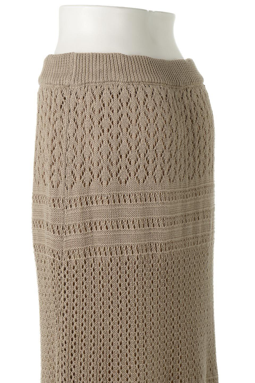 LacyKnitLongSkirt模様編み・ニットスカート大人カジュアルに最適な海外ファッションのothers(その他インポートアイテム)のボトムやスカート。春夏にぴったりな模様編みのロングスカート。着る人を選ばない長さで、シックでもカジュアルでも楽しめます。/main-22