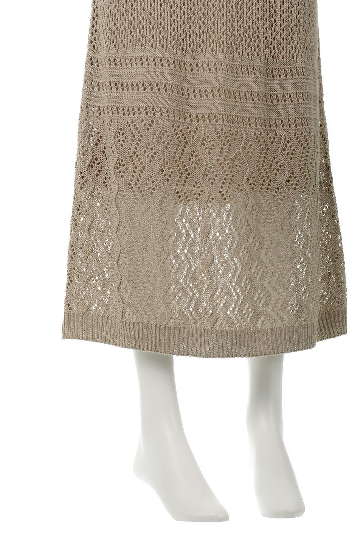 LacyKnitLongSkirt模様編み・ニットスカート大人カジュアルに最適な海外ファッションのothers(その他インポートアイテム)のボトムやスカート。春夏にぴったりな模様編みのロングスカート。着る人を選ばない長さで、シックでもカジュアルでも楽しめます。/main-24