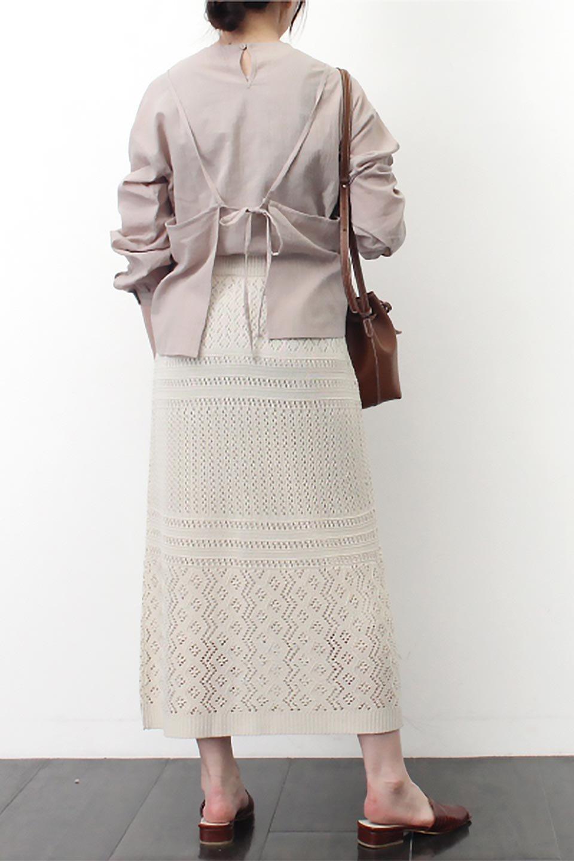 LacyKnitLongSkirt模様編み・ニットスカート大人カジュアルに最適な海外ファッションのothers(その他インポートアイテム)のボトムやスカート。春夏にぴったりな模様編みのロングスカート。着る人を選ばない長さで、シックでもカジュアルでも楽しめます。/main-27