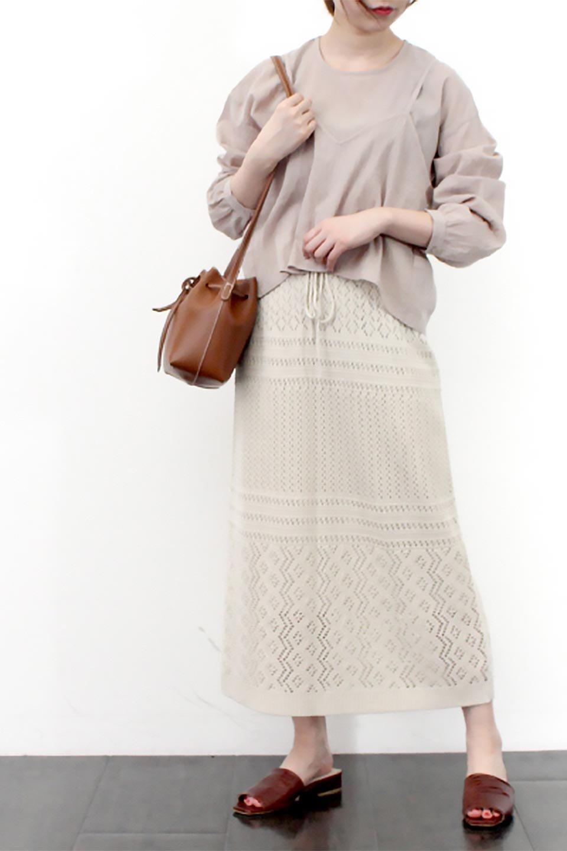 LacyKnitLongSkirt模様編み・ニットスカート大人カジュアルに最適な海外ファッションのothers(その他インポートアイテム)のボトムやスカート。春夏にぴったりな模様編みのロングスカート。着る人を選ばない長さで、シックでもカジュアルでも楽しめます。/main-28