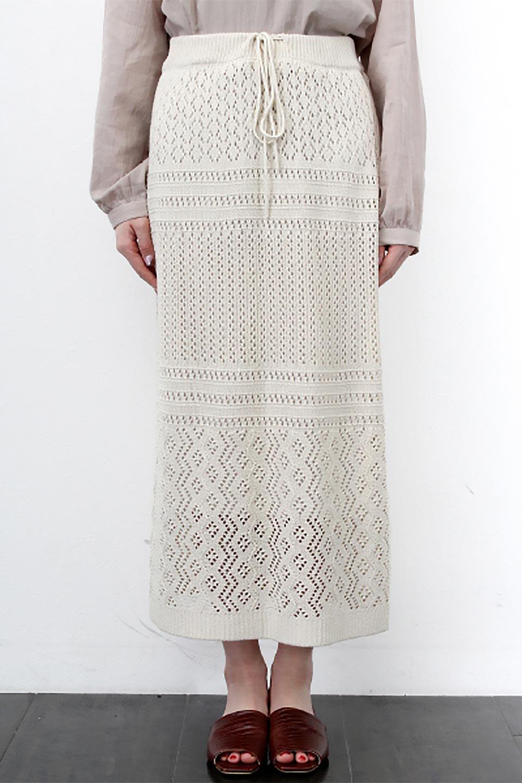 LacyKnitLongSkirt模様編み・ニットスカート大人カジュアルに最適な海外ファッションのothers(その他インポートアイテム)のボトムやスカート。春夏にぴったりな模様編みのロングスカート。着る人を選ばない長さで、シックでもカジュアルでも楽しめます。/main-29