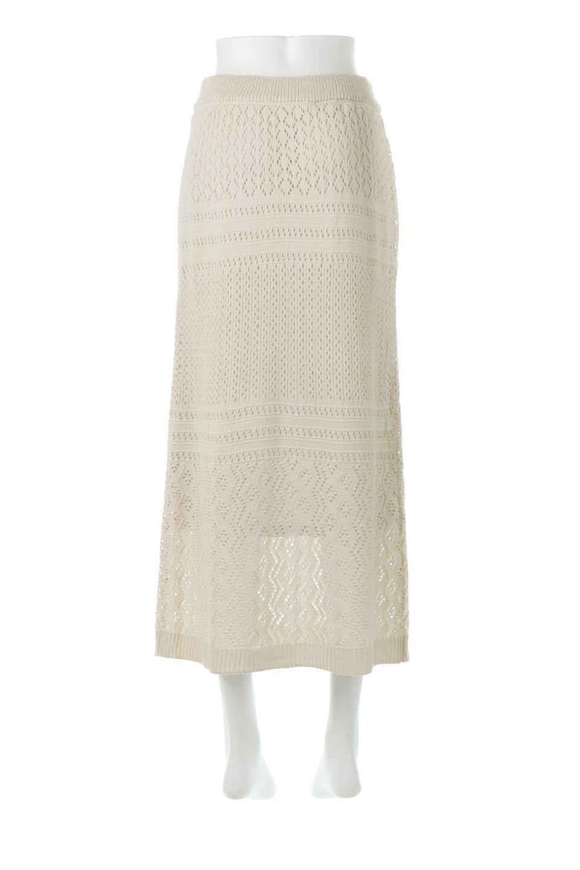 LacyKnitLongSkirt模様編み・ニットスカート大人カジュアルに最適な海外ファッションのothers(その他インポートアイテム)のボトムやスカート。春夏にぴったりな模様編みのロングスカート。着る人を選ばない長さで、シックでもカジュアルでも楽しめます。/main-4